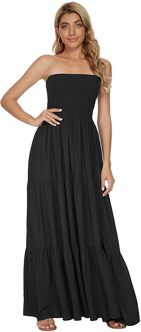 Best Black Strapless Maxi Dresses for Women