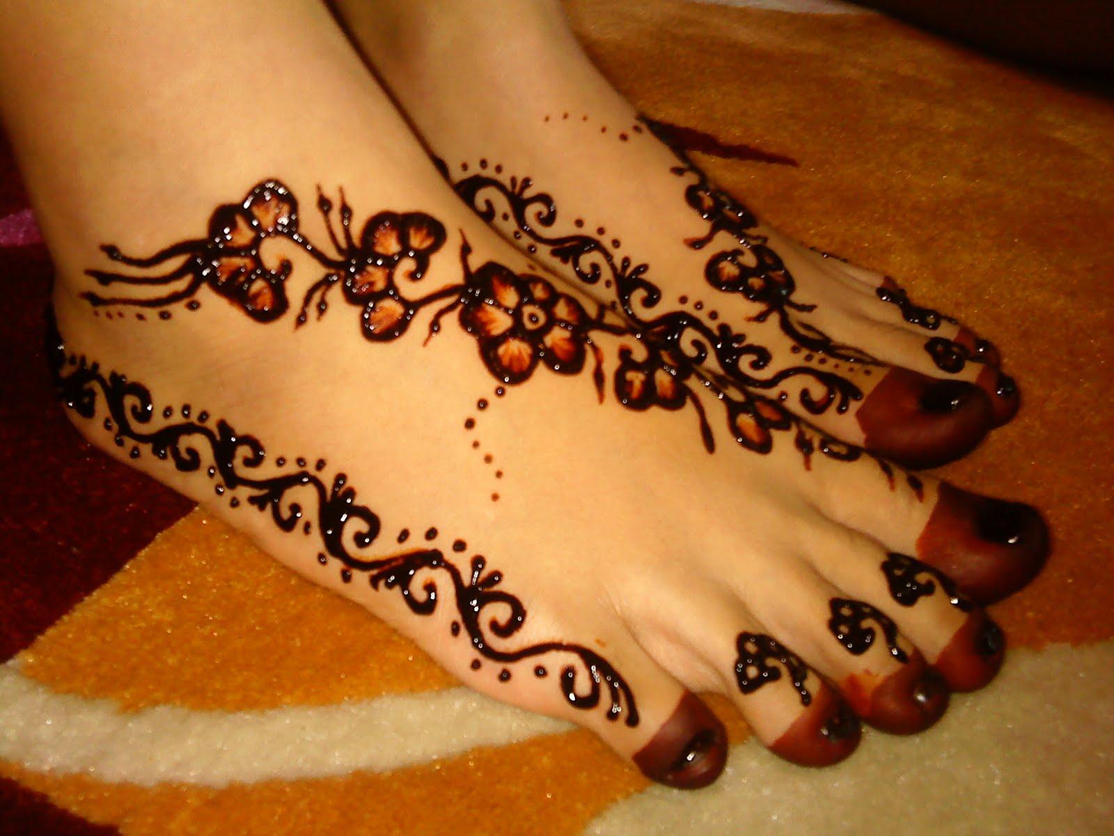 Gambar Henna Pengantin Untuk Kaki Balehenna
