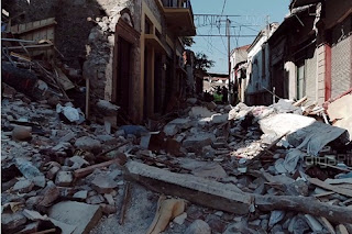 Βομβαρδισμένο τοπίο η Βρίσα στα πλάνα που τραβήχτηκαν με τη βοήθεια drone