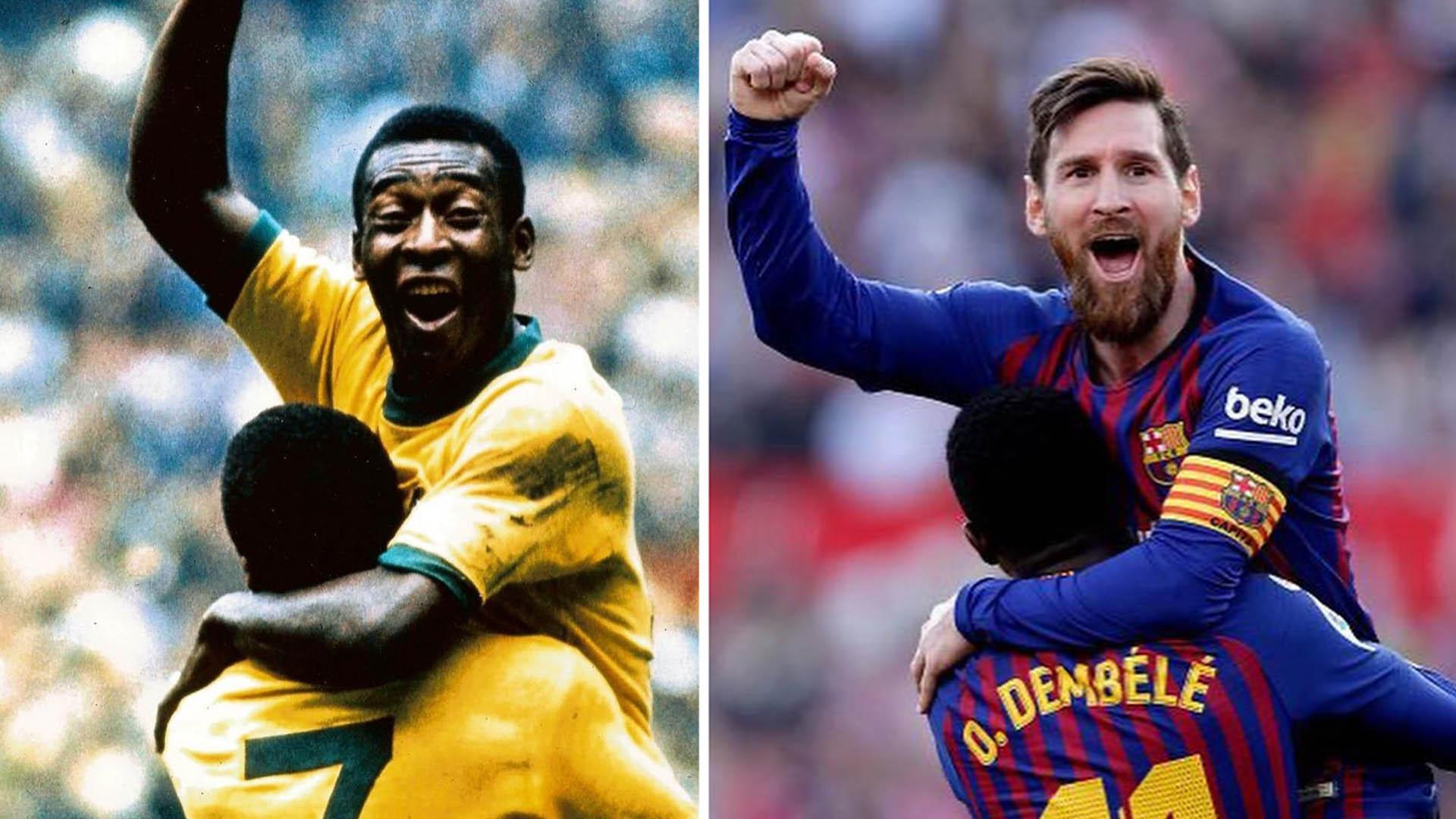 Messi iguala a Pelé en récord de goles con una misma camiseta