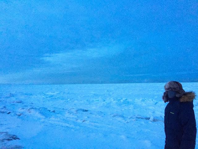 Walking on frozen Arctic Ocean at Utqiagvik / Barrow Alaska | Supratim Sanyal's Blog (C) 2020 Supratim Sanyal