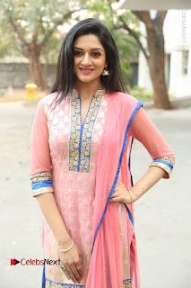 Actress Vimala Raman Stills in Beautiful Pink Salwar Kameez at (ONV) Om Namo Venkatesaya Press Meet  0056.JPG