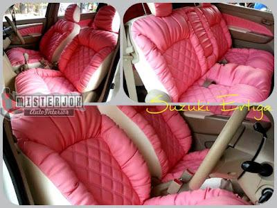 jok mobil ertiga warna Pink