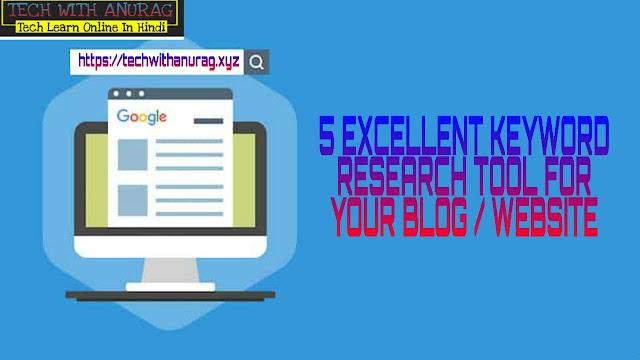 5 Best SEO Keyword Research Tools