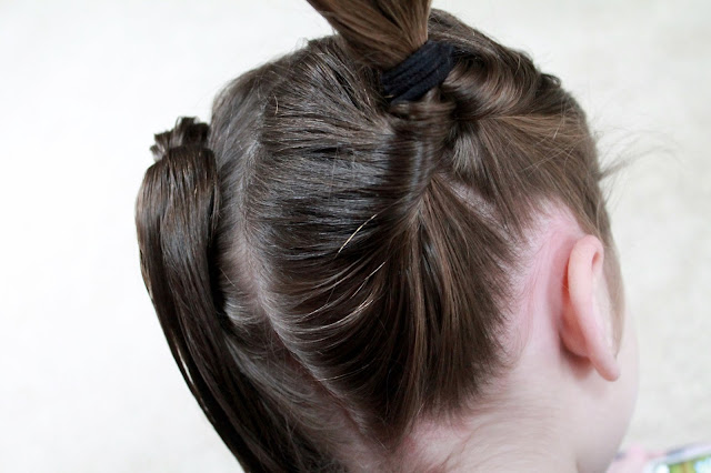 Easy Heart Pigtails for Valentine's Day with SoCozy products