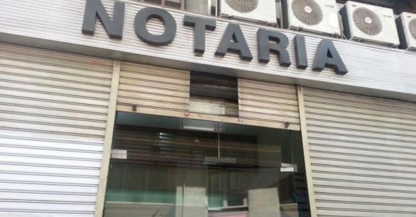 Atención en notarías será individual y con cita previa