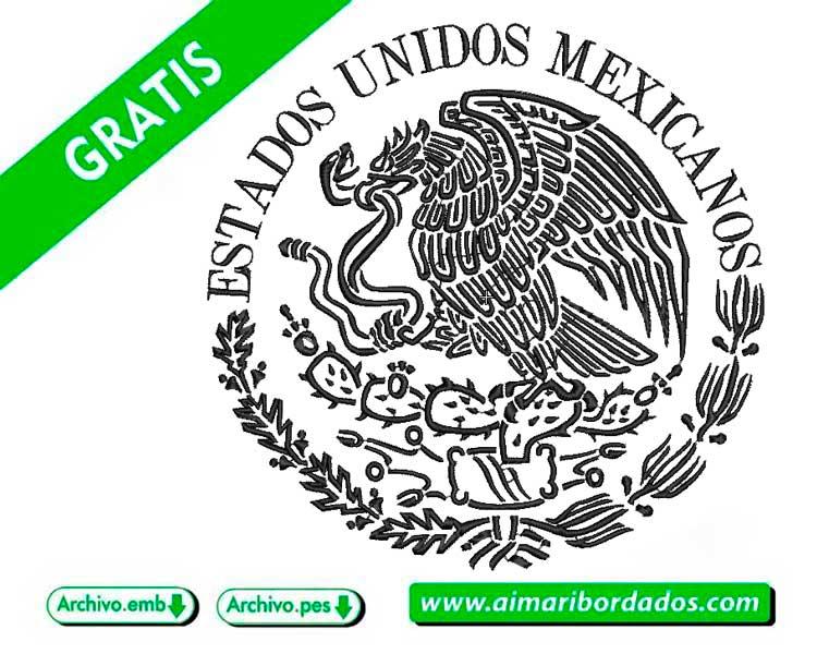 Escudo Nacional de México para bordar a máquina DESCARGA GRATIS