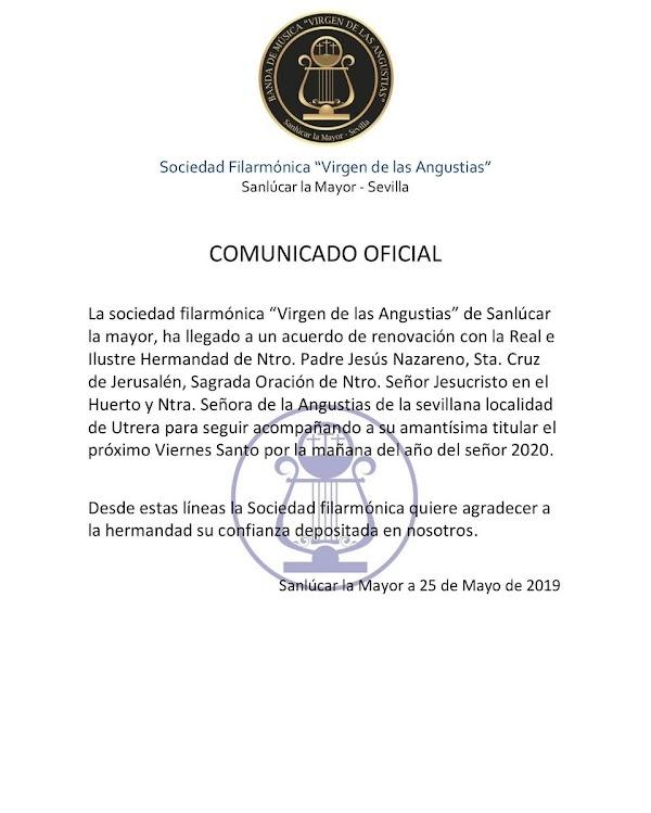 El Huerto de Utrera continuará con los sones de la Virgen de las Angustias de Sanlucar la Mayor para el 2020