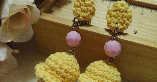 Crochet Ice Cream Earring