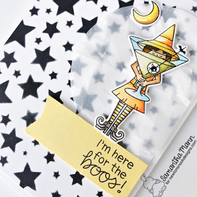 Here for the Boos Card by Samantha Mann for Newton's Nook Designs, Hallween, Cards, Card Making, Distress Inks, Ink Blending, Stencil. Halloween Card, #newtonsnook #newtonsnookdesigns #halloween #boos #cards #cardmaking