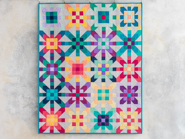 Iridescence quilt on the Midnight Quilt Show with Angela Walters for Craftsy/Bluprint