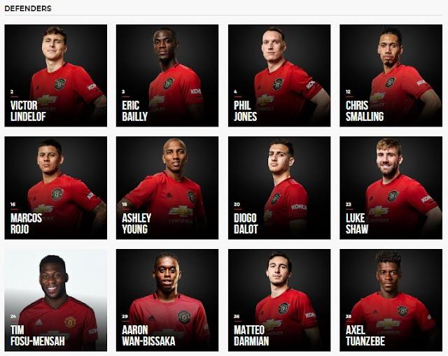 daftar pemain Manchester United