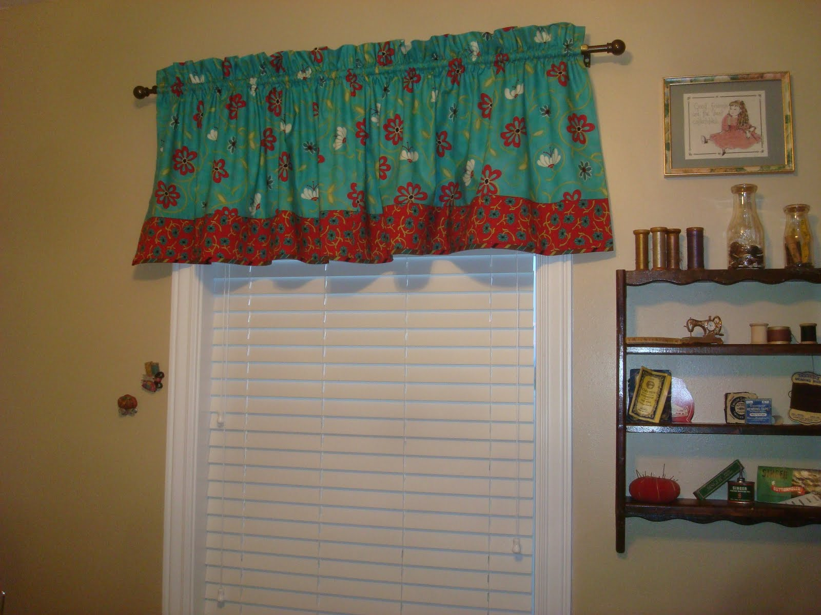 Because I Say Sew New Sewing Room Valance