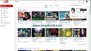 Cara membuat channel youtube dekstope di komputer