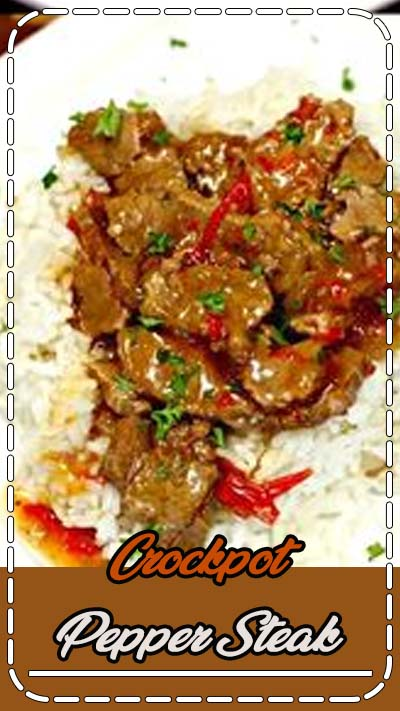 Looking for an easy crock pot recipe? This Crockpot Pepper Steak Recipe is delicious! Easy pepper steak recipe tastes amazing in the crock pot. Try this crock pot Chinese pepper steak recipe today! #eatingonadime #crockpotrecipes #slowcookerrecipes #crockpot #slowcooker #beefrecipes #recipes