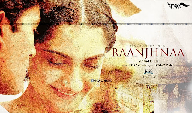 "Sonam Kapoor in ""Raanjhnaa""  first look wallpaper"