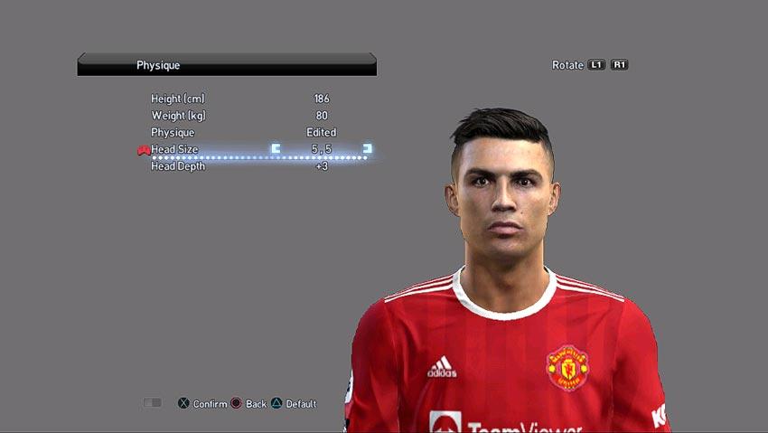 Cristiano Ronaldo Face (Manchester United ) V2 For PES 2013