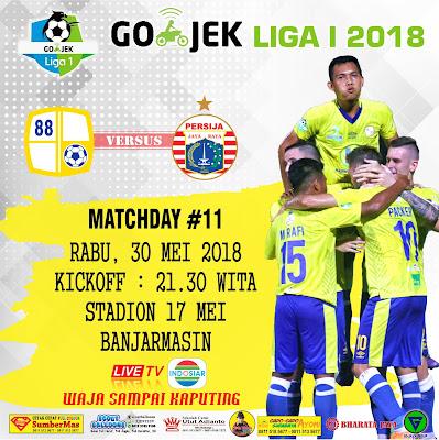 Prediksi Barito Putera VS Persija Jakarta pekan ke-11 Gojek Liga 1