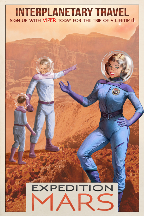 Vintage poster Expedition Mars by Kip Ayers