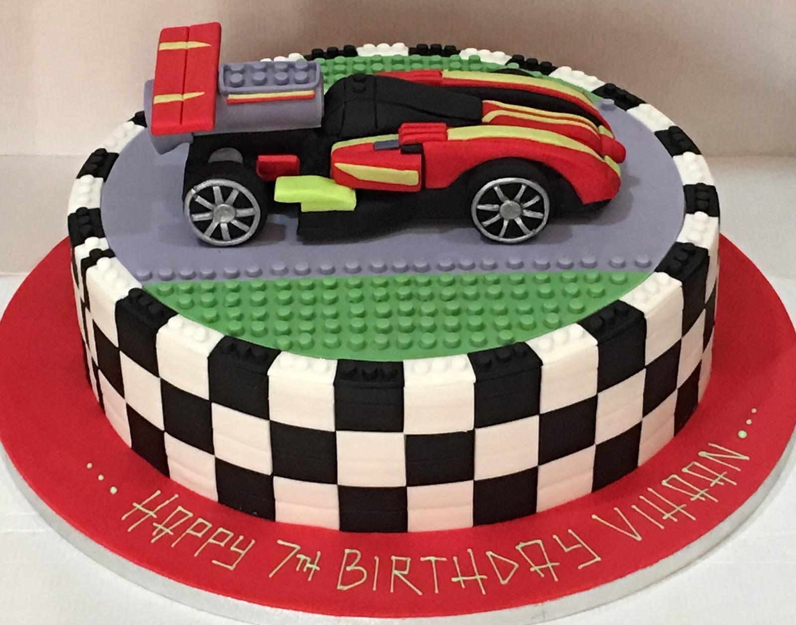 Let Them Eat Cake Lego Racing Car For Vihaan