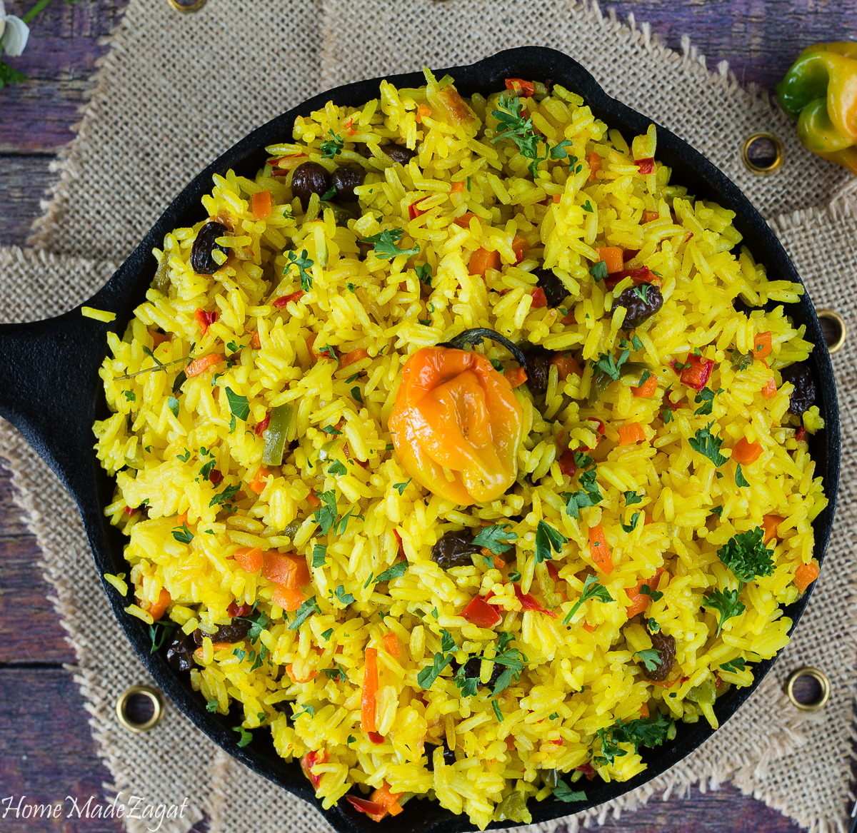 Saffron Turmeric Rice Recipe