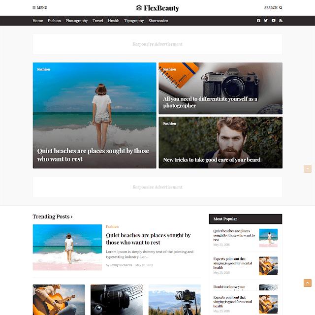 Mẫu Blogger FlexNews