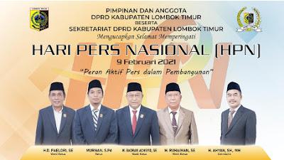 DPRD Kabupaten Lombok Timur Mengucapkan Selamat Memperingati Hari Pers Nasional 9 Februari 2021