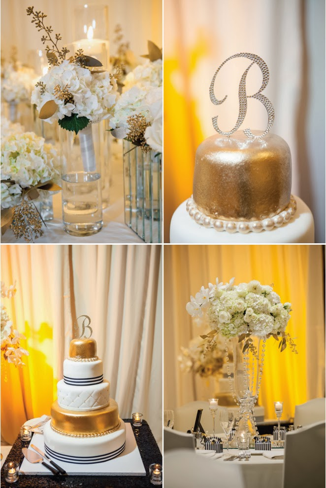 Black And White Glamorous Wedding With A Dash Of Gold