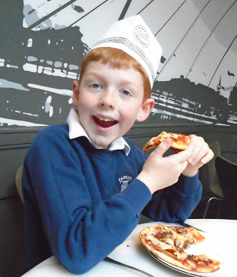 Children's pizza at pizza express