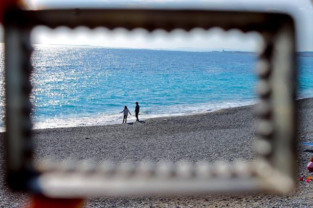 'Nice' biscuit cutter beach photo