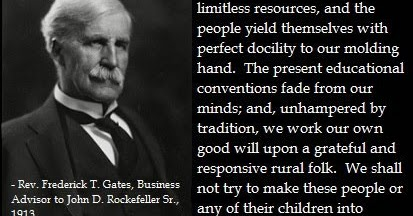 John D Rockefeller Education System
