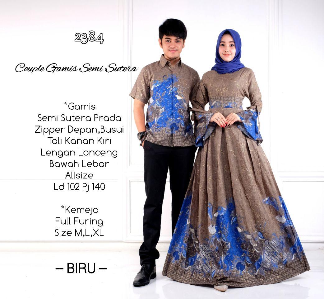 Model Baju Gamis Perpaduan Batik: Batik Bagoes Solo