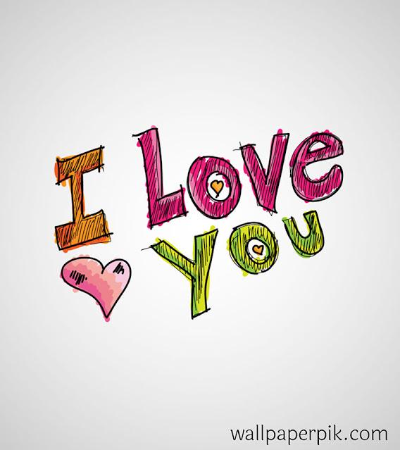 ए लव यू  i love you image