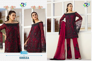 R9 Sheza Net Embroidered Pakistani Suits Collection