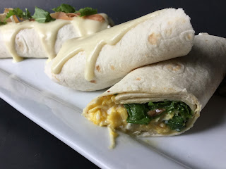 Greens, Eggs and Ham Burrito