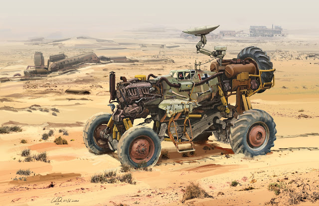 Wasteland Messerschmitt Bf109 4x4 Vehicle by Longque Chen