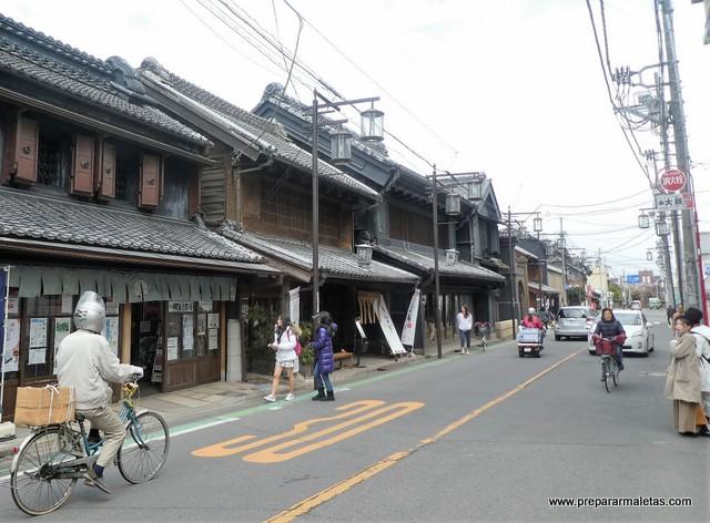 calles detenidas en el tiempo de Kawagoe Japón