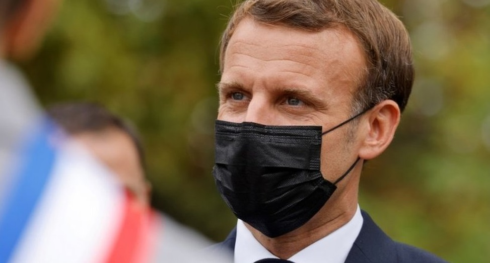 Presiden Perancis Emmanuel Macron Positif Covid-19