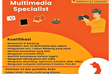 Lowongan Kerja Multimedia Specialist SeOn Bandung
