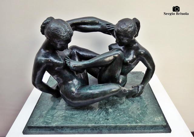 Close-up da Escultura Dois Nus Femininos Entrelaçados - Pinacoteca SP - São Paulo