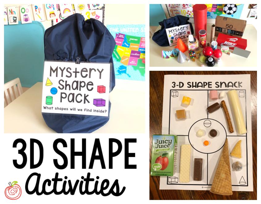 3D Shape Activities for Kindergarten