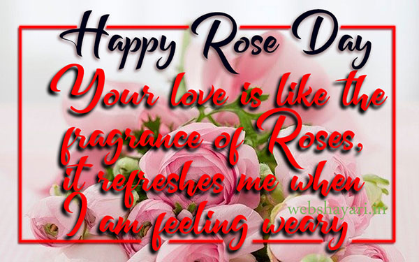 love rose day quote with image