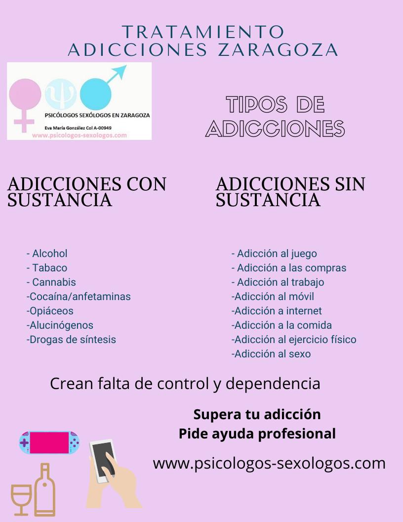 infografía psicólogos adicciones Zaragoza