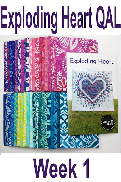 Exploding Heart quilt along