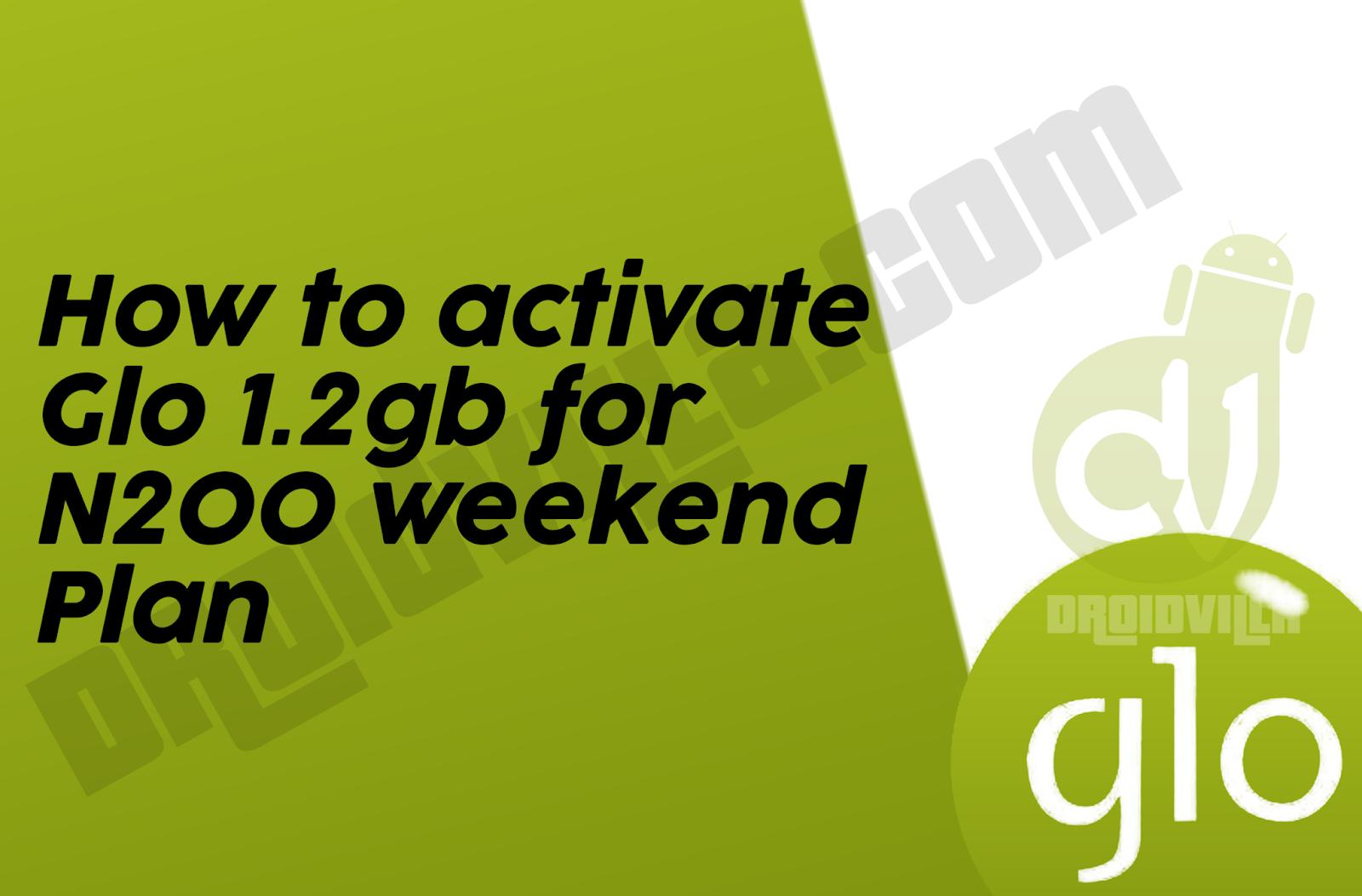 Glo weekend plan 1.2gb