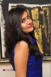 Actress Radha Pictures in Blue Short Dress at talabbayi Audio Launch  0028