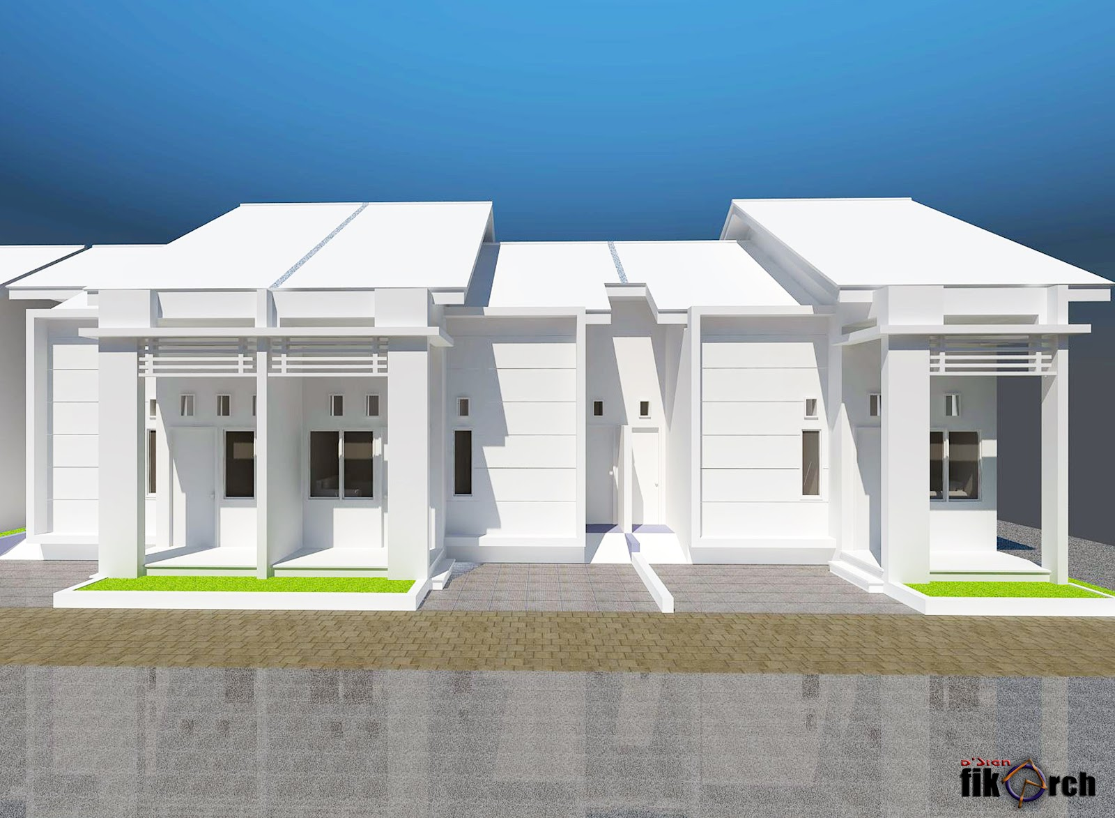 AMIRUDDIN AKBAR FISU desain rumah kontrakan