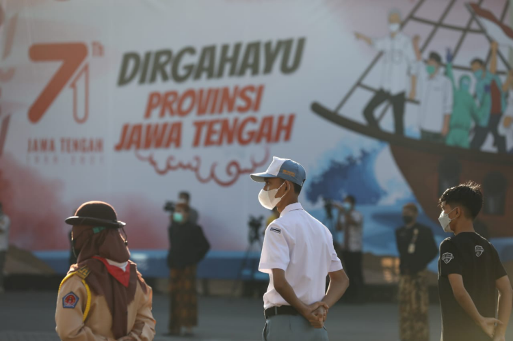 HUT Jateng, Ganjar Ajak Perkuat Solidaritas Wujudkan Jawa Tengah Tangguh