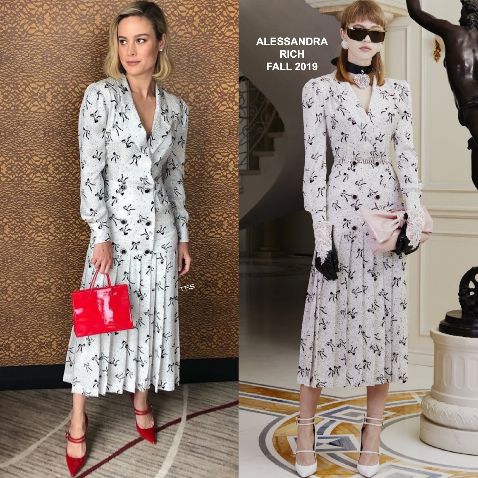 sale uk reasonably priced best sneakers Instagram Style: Brie Larson in Alessandra Rich Promoting ...