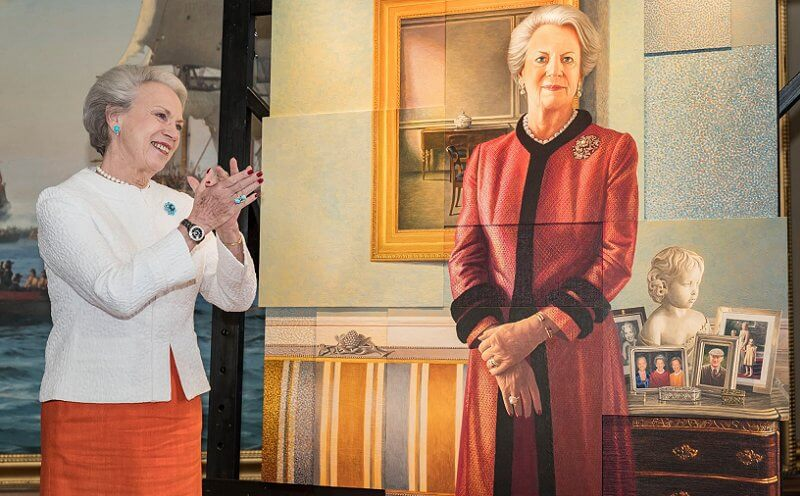 Princess Benedikte unveiled a new portrait of herself painted by Danish artist Lars Physant